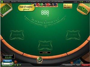 il blackjack di 888
