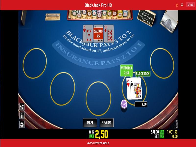 il blackjack di Novibet