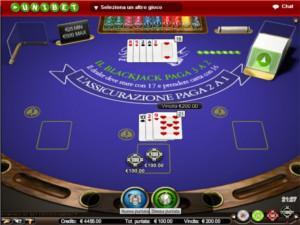 il blackjack di Unibet