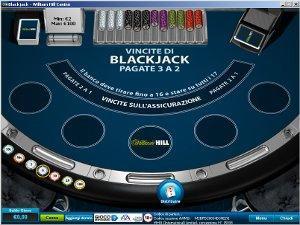 il blackjack di William Hill